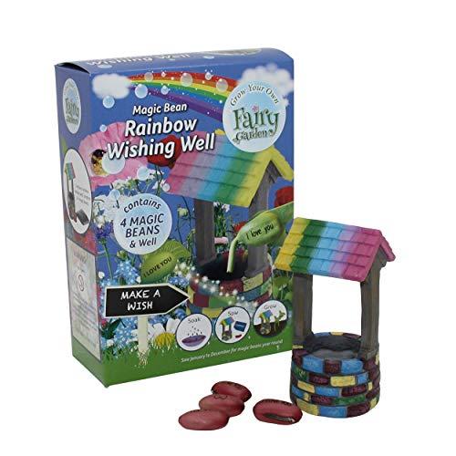 fairy garden wishing well - kit per coltivare fagioli magici, per far crescere il tuo giardino delle fate, creatività per bambini, statuette, arti e mestieri