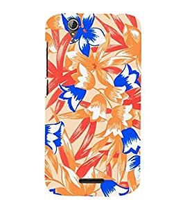 Abstract Floral Painting 3D Hard Polycarbonate Designer Back Case Cover for Acer Liquid Zade Z630 : Acer Liquid Zade Z630S