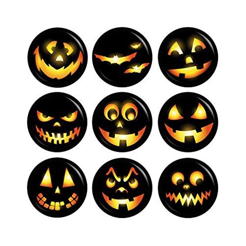 Kiwikatze® Fest - Set Kürbisgeister Laternengeister Geister Button Ansteckbutton 37mm für Halloween (Machen Hexe Kostüm)
