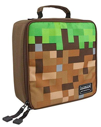 Minecraft Grass Block Lunch Box (Rucksack Mit Lunch Box)
