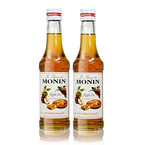 2x Monin Apple Pie Sirup, 250 ml Flasche - für Cocktails, zum Kaffee oder Kochen