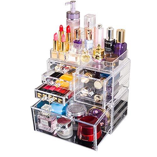 Maquillage Acrylique Organisateur Cosmétique Tiroirs de Stockage, Boîte de Bijoux de Cas de Cosmétiques de Comptoir Imperméable pour Brosses, Rouge À Lèvres, Fondation