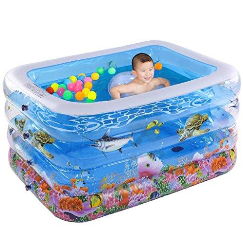 Badewanne Pool quadratisches Baby aufblasbares 120 * 100 * 72cm Verdickung Baby Baby Neugeborenes aufblasbares Schwimmbad
