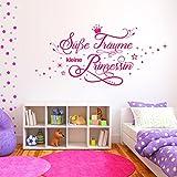 Wandtattoo Süße Träume kleine Prinzessin | Wandsticker Wand Aufkleber Mädchen Baby Kinderzimmer schlaf gut Grün 061 105 x 48 cm