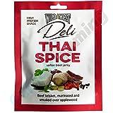 Wild West Deli Thai Spice - Especia tailandesa Carne de vaca Jerky Carnes curadas y carnes secas 50g