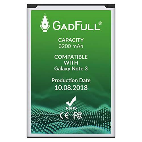 GadFull Akku für Samsung Galaxy Note 3 | 2018 Baujahr | Entspricht Dem Original EB-B800BE Lithium-Ionen-Akku der Modelle GT-N9000 GT-N9005 GT-N 9006 GT-N9009 | Ersatz Handy-Akku für Ihr Smartphone