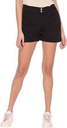 Life by Shoppers Stop Womens 5 Pocket Solid Shorts