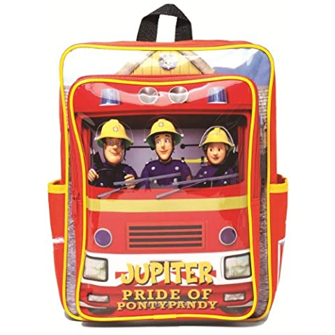 Pre-School Boys Character Fireman Sam Backpack2 Red Size