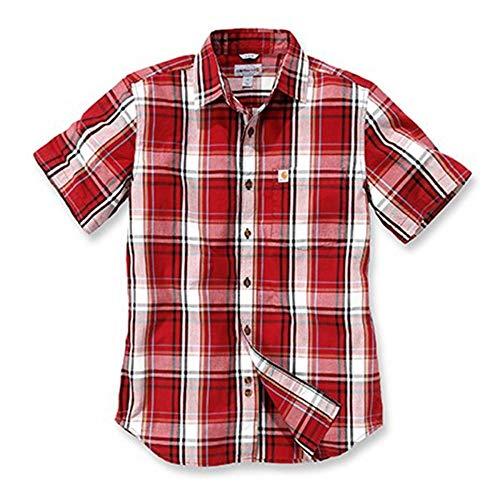 Carhartt Slim Fit Plaid kurzarmhemd XL Rot/Weiß