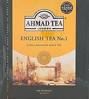 شاي اسود انجليزي رقم 1 من احمد - 100 كيس، 200 غرام - عبوة واحدة