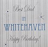 """White Cotton Cards """"Best Dad"""