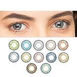 Farbige Kontaktlinsen Tageslinsen Weich Natürliche ohne Stärke verschiedene Farben 1 Paar