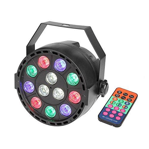 TSSS DMX Par Licht mit Fernbedienung Mischfarbe LED RGBW Ton Aktivieren Disco Beleuchtung für Parteierscheinen KTV DJ Hochzeit