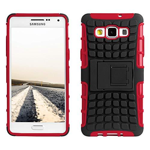 ECENCE Handyhülle Schutzhülle Outdoor Case Cover kompatibel für Samsung Galaxy A5 (2015) Handytasche Rot 12040301