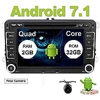 Eunavi® 2 DIN Android 7.1 Coche Audio Reproductor de DVD GPS Radio Touch Pantalla Coche