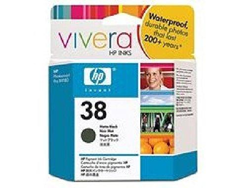 HP 38 - Mattschwarz - Original - Tintenpatrone - für Photosmart Pro B8850, Pro B9180, Pro B9180gp C9412A HP B9180 INK MATT BLACK No.38 pigmented Vivera Ink - Hp Photosmart B9180