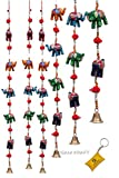 #6: DreamKraft Rajasthani Decorative Elephant Door Hangings Wall Art (96 CM) (Set of 2)