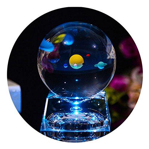 kugel mit Lichtbasis, klar 80mm (3 in.) Sonnensystem Ball, Geburtstagsgeschenk für Astronomen, Liebhaber des Universums, Freund, Mitschüler und Kinder (Ball) ()