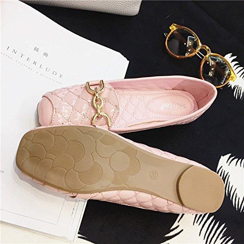 WYMBS Nouvelle boucle pieds loisirs chaussures basses pour aider les chaussures confortables square soft bas chaussures de talon des célibataires chaussures chaussures grande taille Blue