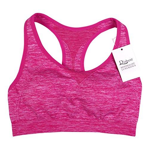 Soutiens-gorge de sport, Disbest Soutien-gorge rembourré de yoga pour femmes avec sangle d'extension Impact élevé Push Up pour courir Pilates Exercice Rose