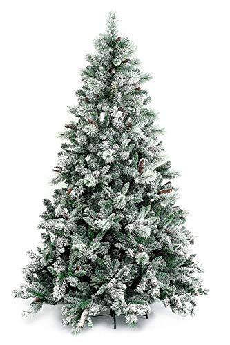 XONE Albero di Natale Gardena INNEVATO 240 CM con PIGNE