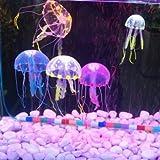 Kyz Kuv Artificial Silicona peces vivos medusas para Acuario Decoración–púrpura