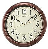 Seiko Wall Clock (32.4 cm x 32.4 cm x 4.5 cm, Brown, QXA616BN)