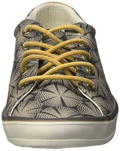 cendre Grau Tbs lin Sneakers Damen Caroli Gris H4wWqgpvU