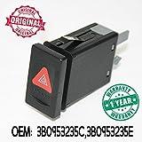 CarJoy 9548P Warnlichtschalter Warnleuchtenknopf Dreieck Rot für Passat 1997-2005 OE: 3B0953235B