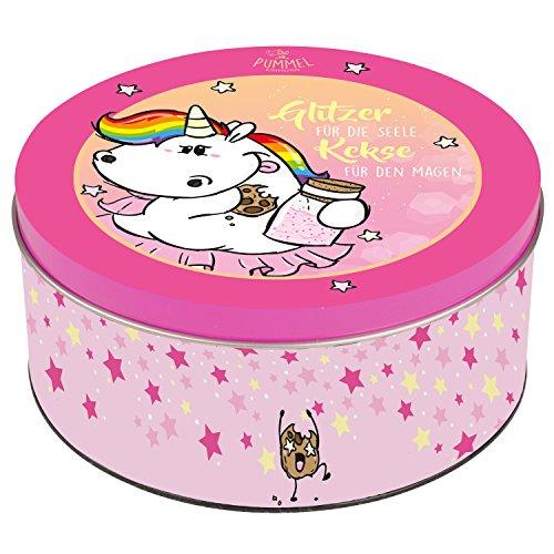 Pummeleinhorn Keksdose - Kein Glitzer Keine Lösung (Pink)