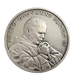 Medaillon des Heiligen Papst Johannes Paul II und dem Päpstlichen Siegel