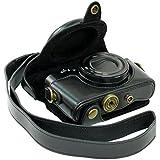MegaGear Etui souple en cuir pour, Housse pour Sony DSC-RX100 (Noir)
