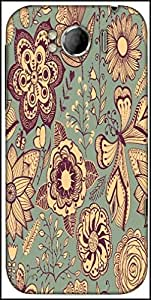 Snoogg Abstract Floral Background Designer Protective Back Case Cover For HTC Sensation Xl