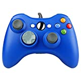 PROUS xw03 Wired USB Controller Kabelgebunden Xbox Game Controller Gamepad für Windows7, Xbox 360, PC und Laptop Computer Blau