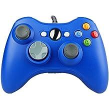 Prous XW03 PC controlador Xbox 360 cable USB gamepad compatible para Microsoft 360 consola Windows PC ordenador portátil-AZUL