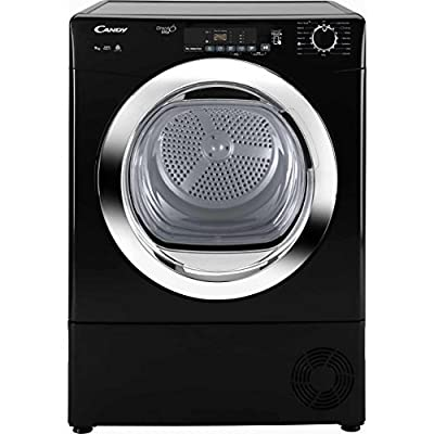 Candy GVSC9DCGB Freestanding B Rated Condenser Tumble Dryer in Black from Hoover Group