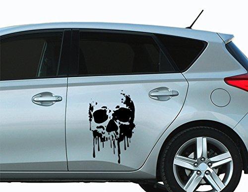 universumsum Autoaufkleber Skull Blood Totenkopf Weiß 20 x 30 cm bsm076-20-040 Car-Tattoos Autotattoo Auto Tuning Car Styling Selbstklebend