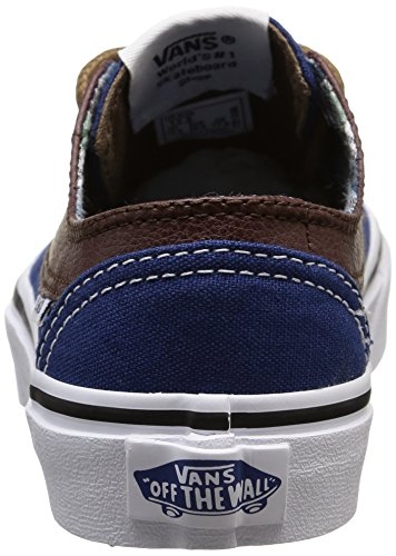 Vans Unisex-Kinder Brigata Sneaker Mehrfarbig (leather/plaid/estate Blue/potting Soil) 1v99mJr