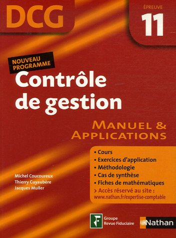Contrle de gestion Epreuve 11 - DCG - Manuel et applications