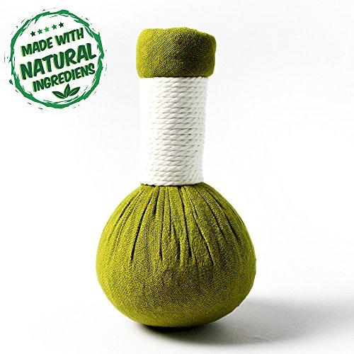 20 x Kräuterstempel Zitronengras Thai Kräuter 200g (Gramm) - MyThaiMassage - für traditionelle Massagen & Wellness - 100% natürliche Zutaten