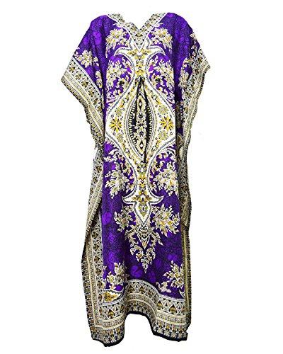 Dot Robe (Night Dress Dot Com Damen Kleid, violett)