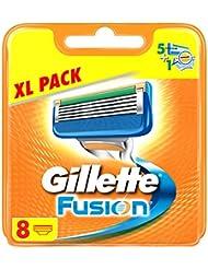 Gillette Fusion Rasierklingen für Männer, Briefkastenfähige Verpackung, 8 Stück