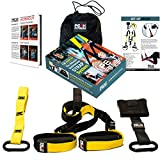 Suspension Trainer Home Gym Workout Kit by Peak Fitness. Crossfit Training Strap Exercise System. Includes Door Anchor Mount and Travel Bag - Lifetime Guarantee