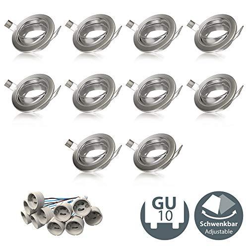 B.K.Licht - Set de 10 marcos de montaje para focos GU10 y...
