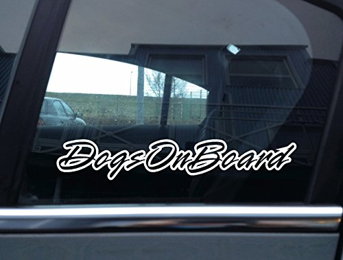 "\""Dogs on Board\"" Buchstabe Outline Hund, Auto Vinyl Aufkleber"