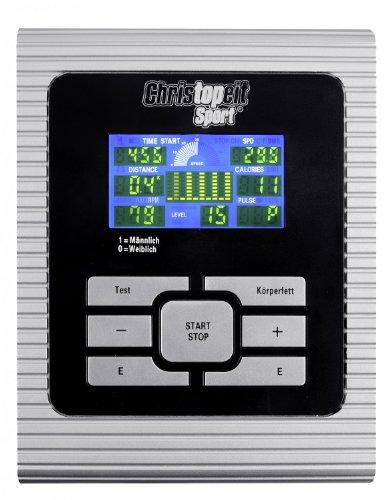 Christopeit Ergometer Crosstrainer CX 6 silber – inkl. Bodenschutzmatte - 2