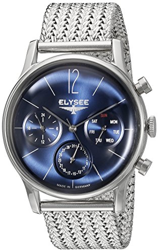 ELYSEE Men's 38013M Classic-Edition Analog Display Quartz Silver Watch