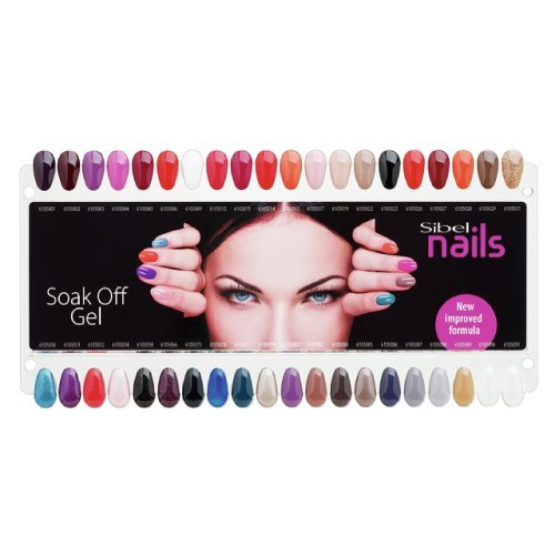 Sibel nails Nuancier Soak Off Gel 40 Couleurs