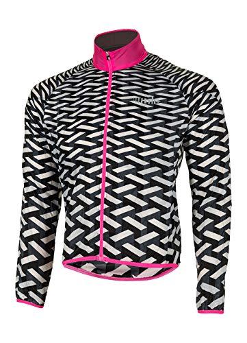 R/H Emergency Pocket, Accessories Bike Shell für Erwachsene, Unisex - Erwachsene, SSCX563 998S, Black-Fluo Pink-White, S