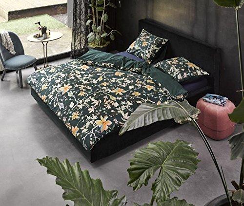 Essenza Satin-Bettwäsche Brohna, Farbe Green 155x220cm+80x80
